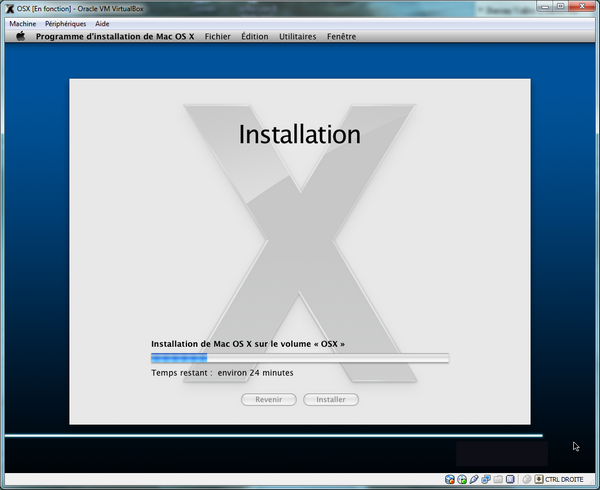 Installation VirtualBox – Mac OS X sur votre PC (Windows)