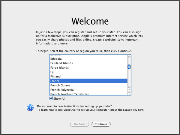 Welcome VirtualBox – Mac OS X sur votre PC (Windows)