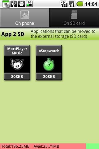 App 2 SD a Comment accélérer Android ?