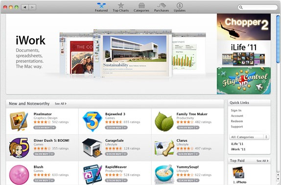 apps gallery featured Mac App Store est disponible