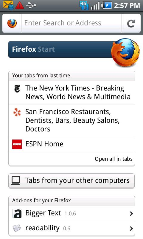 Firefox 4 Android 2