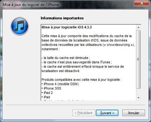 iPhone iOS 4.3.3