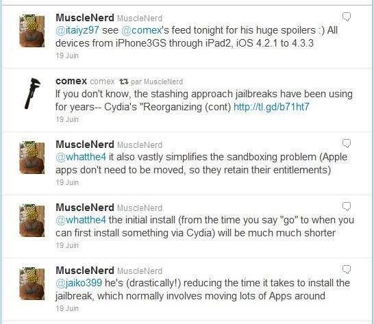 Tweets Jailbreak iPad 2