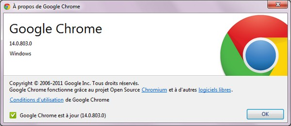 Google Chrome 14 beta  Google Chrome 14 disponible