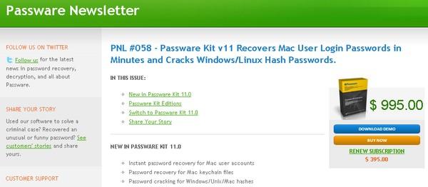 Passware Une faille permet dobtenir les mots de passe sous Mac