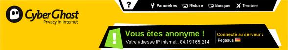 bandeau CyberGhost CyberGhost vous offre un VPN gratuit