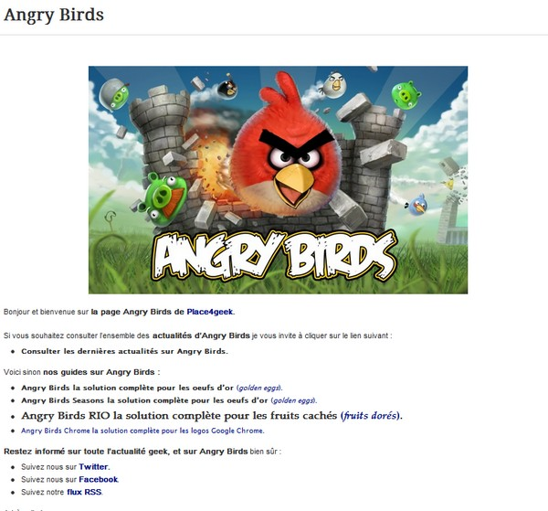 index angry birds oeufs dor Angry Birds et les Oeufs d'Or…