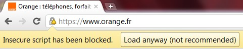 orange bloqué par Google Chrome 14 Google Chrome 14 disponible