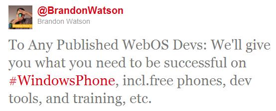 brandon watson microsoft Microsoft offre des mobiles