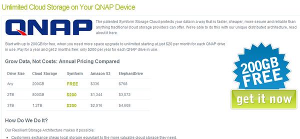symform 200Go Gratuit   200 Go despace dans le cloud avec QNAP