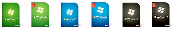 windows 7 boites
