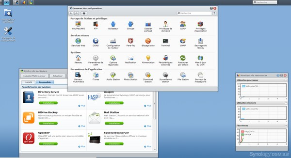 interface synology Comparatif NAS 2 baies (fin 2011)