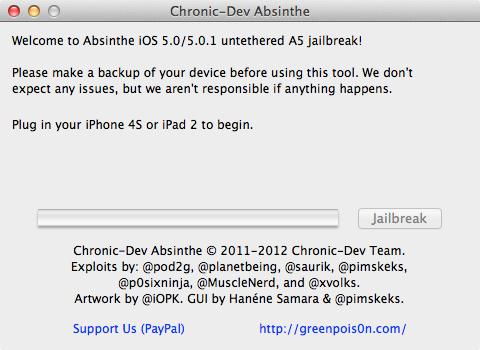 absinthe iOS 5.0.1