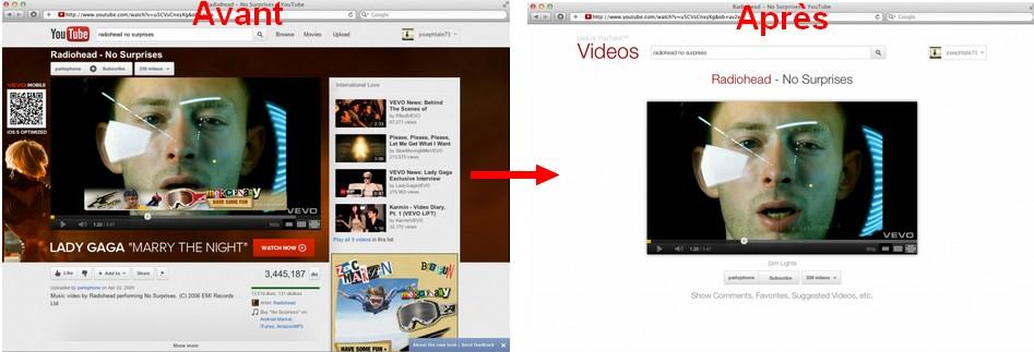 avant apres YouTube YouTube sans fioriture