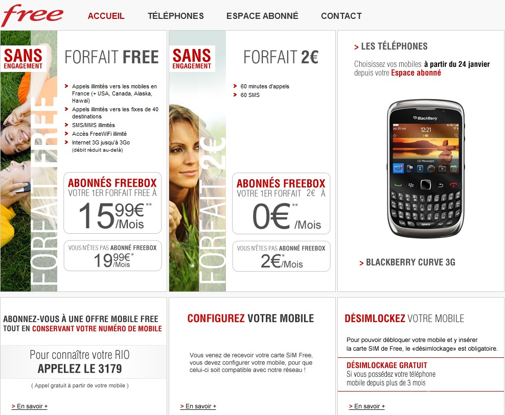 offres free mobile
