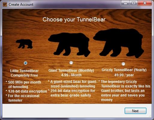 TunnelBear 5 meilleurs VPN gratuits