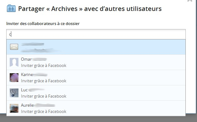 Partage avec Amis Dropbox Facebook facile Dropbox permet le partage avec vos amis