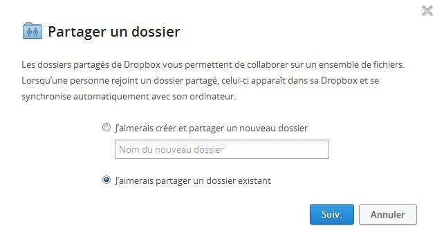 Partager dossier Dropbox Facebook Dropbox permet le partage avec vos amis