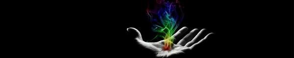 bandeau main feu couleur