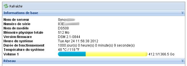 DS508 1000 jours uptime NAS : les 1001 nuits