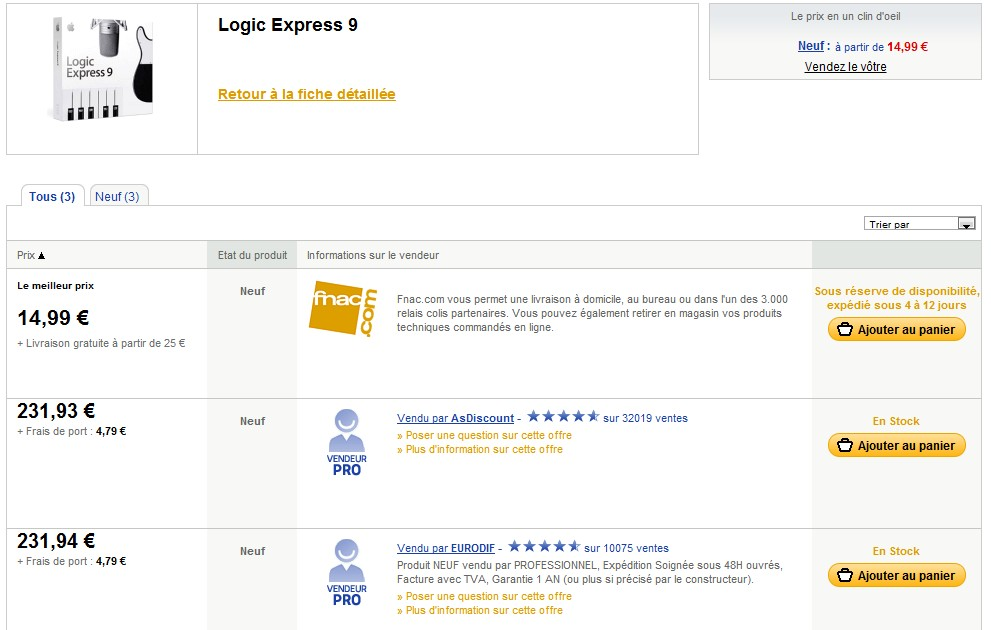LogicExpress9 Logic Express 9 à moins de 15€