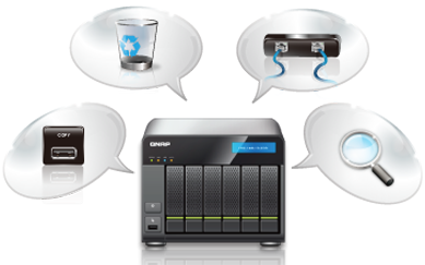 Management Enhancements QNAP propose son firmware 3.7