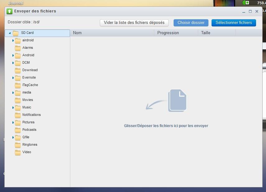 envoyer des fichiers Prenez le contrôle de votre mobile avec AirDroid