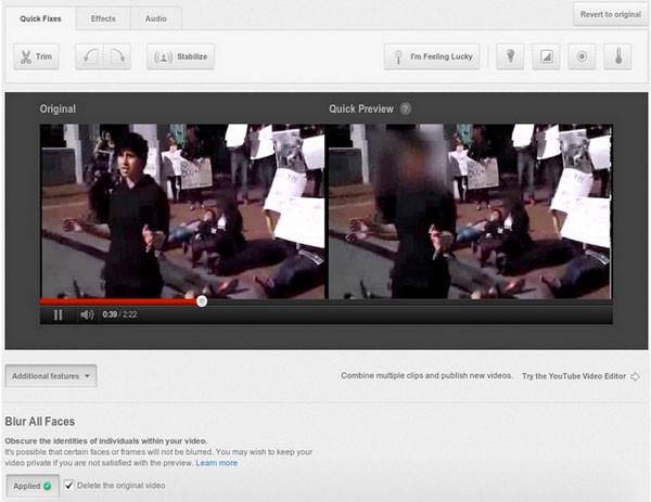 flou visages YouTube ajoute le floutage de visage