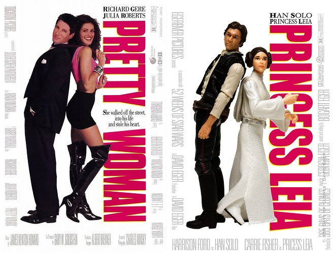 pretty woman 365 jours de Star Wars
