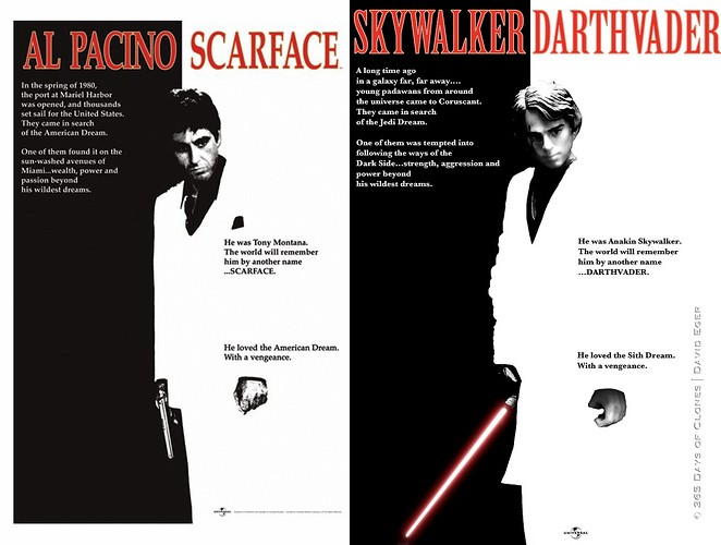 scarface 365 jours de Star Wars