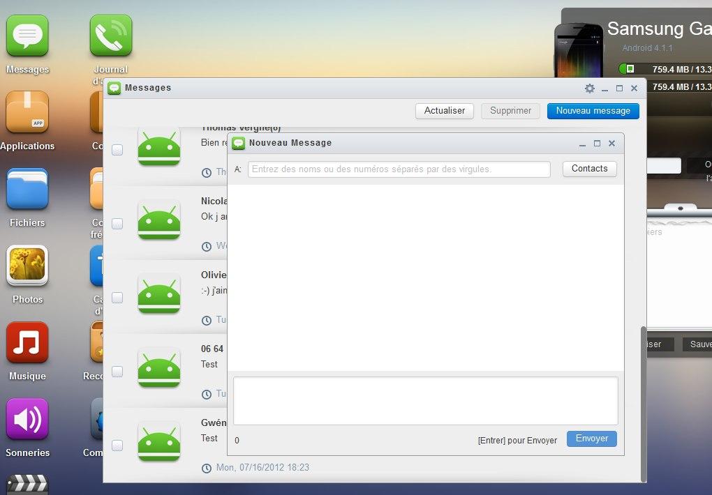 sms messages airdroid Prenez le contrôle de votre mobile avec AirDroid