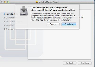 Continue Continue VMware – OS X 10.8 Mountain Lion sur PC Windows