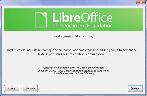 LibreOffice 3.6 LibreOffice passe en version 3.6.0