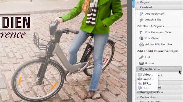 adobe acrobat x pro De la vidéo dans un document PDF