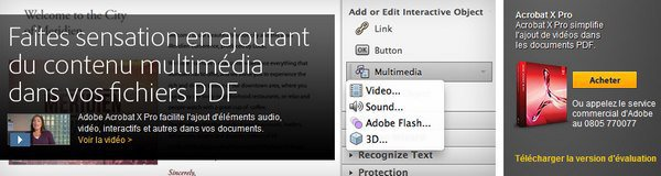 bandeau adobe acrobat x pro De la vidéo dans un document PDF
