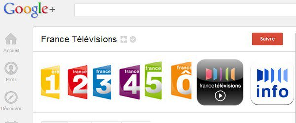 france television google plus France TV plébiscite G+
