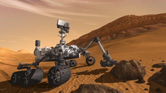 image photo curiosity NVIDIA 3D Vision pour diriger Curiosity sur Mars