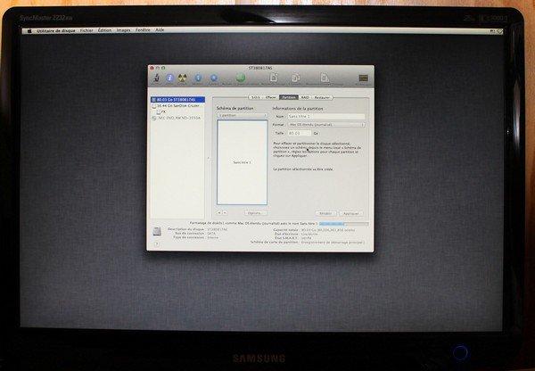 utilitaire disque hackintosh Installer OS X Mountain Lion sur un PC