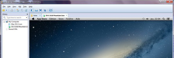 vmware workstation os x 10.8 VMware – OS X 10.8 Mountain Lion sur PC Windows