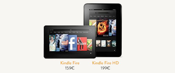 bandeau amazon kindle fire hd Les tablettes Amazon débarquent...