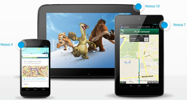 Google Nexus Google annonce les Nexus 4, 7 et 10