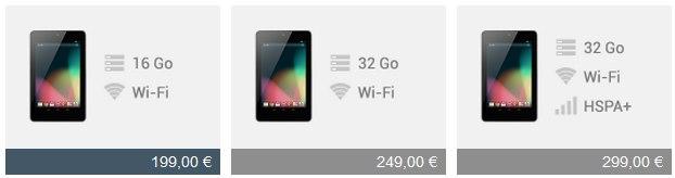 Nexus 7 Google annonce les Nexus 4, 7 et 10