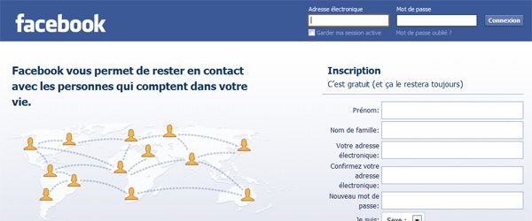 facebook page accueil