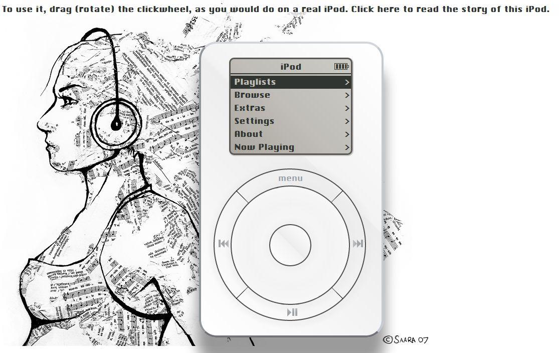 ipod web Un iPod dans votre navigateur