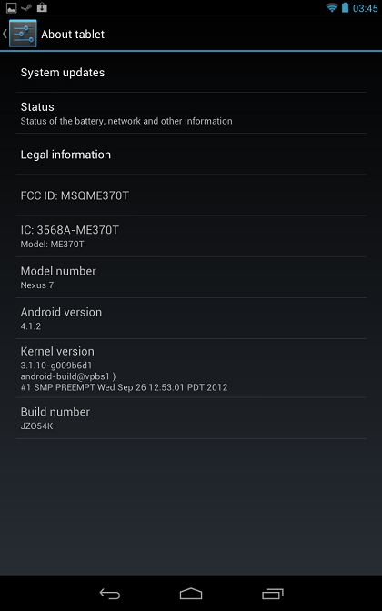jelly bean 4.1.2 Mise à jour Android 4.1.2