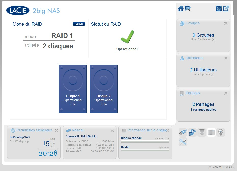 raid Test LaCie 2big NAS