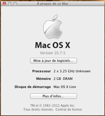 wmware os x 10.7.5 windows VMware OS X 10.7.5 sous Windows