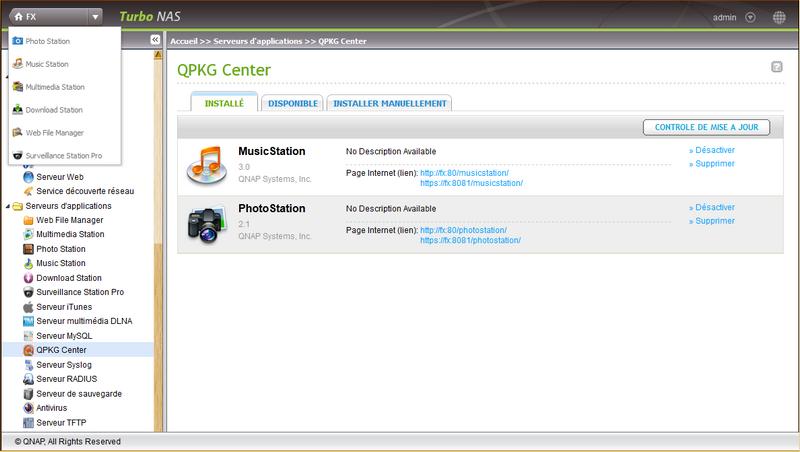 06 admin2 Test du NAS QNAP TS 469L et firmware 3.8