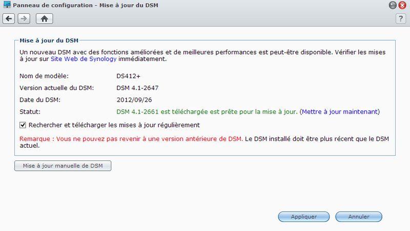 DSM 41 2647 Synology DSM passe en version 4.1 2661