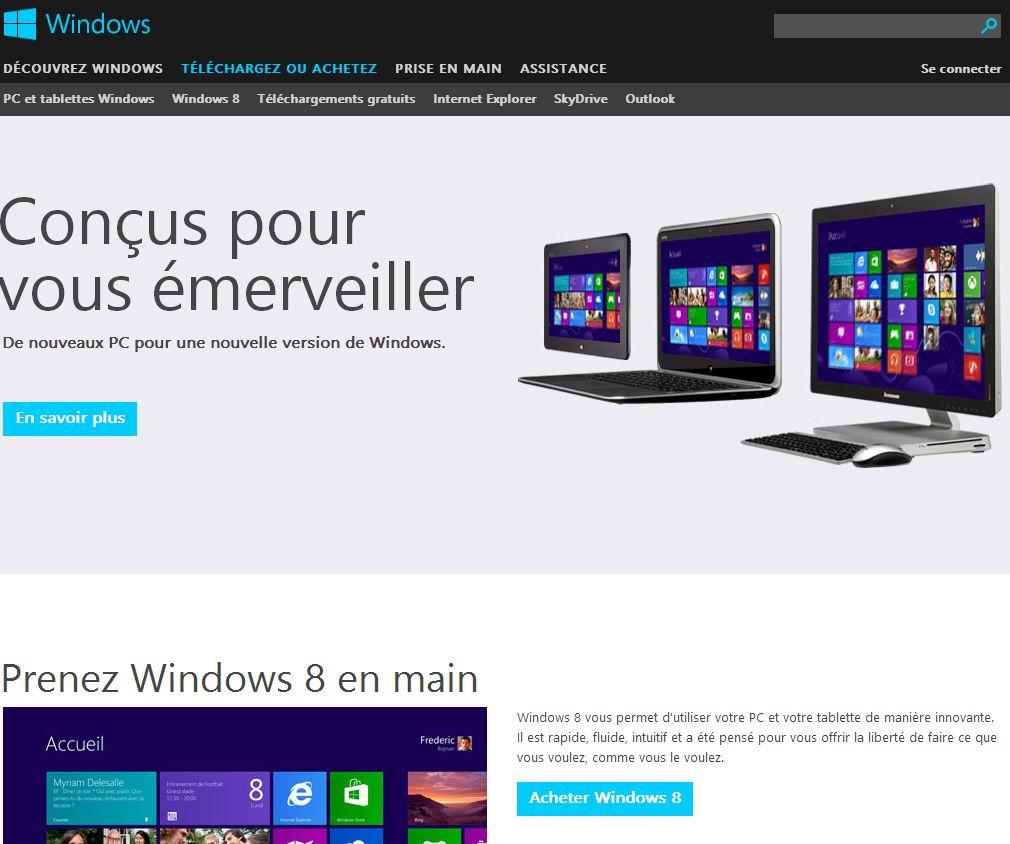 acheter windows 8 Bilan dune semaine avec Windows 8